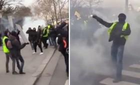 Κίτρινα Γιλέκα: Διαδηλωτής έχασε το χέρι του (vid)