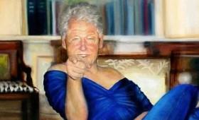 Ο Μπιλ Κλίντον με γυναικείο φόρεμα και κόκκινες γόβες