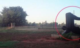 Ρομπότ και εμφάνιση UFO καταγράφονται από κάμερα