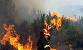 Μεγάλες φωτιές στην Ηλεία όπου καίγονται σπίτια
