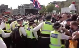 Διαδηλώσεις στο Λονδίνο κατά του Covid-19 (vid)