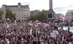 Νέες διαδηλώσεις σε Λονδίνο και Μαδρίτη κατά του Covid-19 (vid)