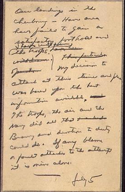 «Σε περίπτωση ήττας αναλαμβάνω την ευθύνη». Η επιστολή αυτή του στρατηγού Αϊζενχάουερ δεν δημοσιεύτηκε ποτέ χάρη στον Χίτλερ.