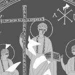 Αγένειος Ιησούς σε αρχαία γυάλινη πιατέλα