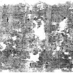 Αρχαίο ελληνικό κείμενο σε πάπυρο που κάηκε από την έκρηξη του Βεζούβιου